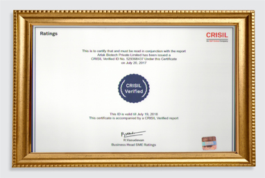 arlak certificate