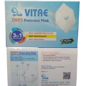 White Reusable VITAE ZN95 Protection Mask